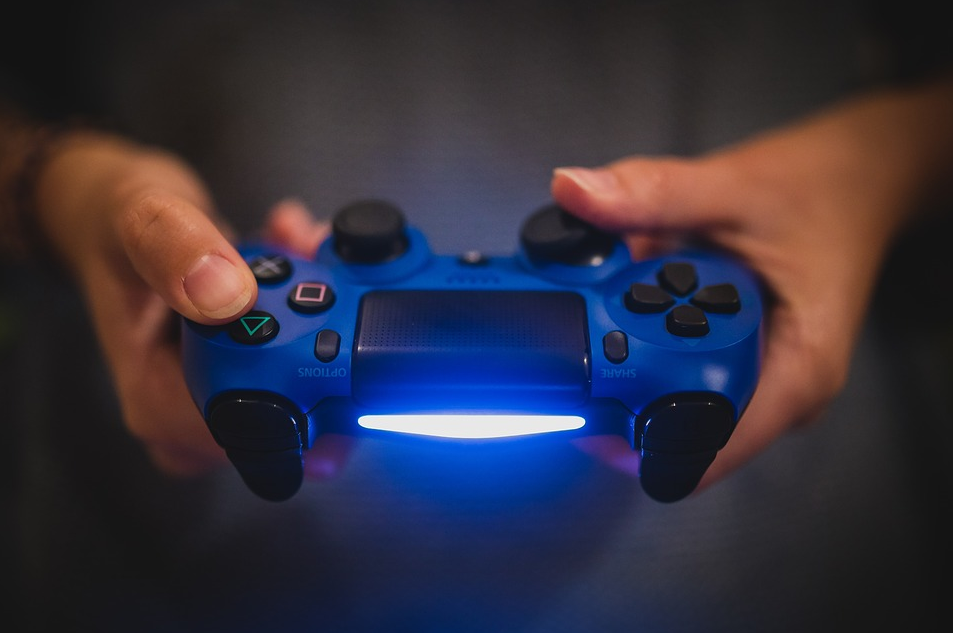 gaming console with white led light