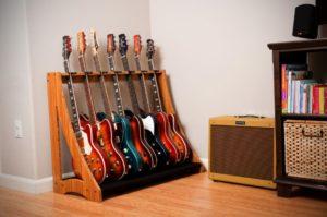 hanging guitar